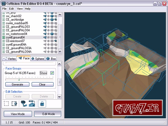 دانلود نرم افزار Collision File Editor II برای (GTA 5 (San Andreas